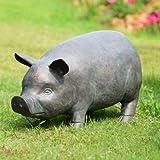 Perky Pig Garden Statue with Bluetooth Speaker