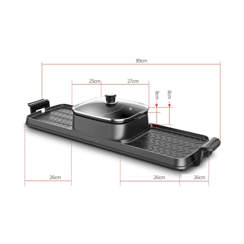Hot Pot Electric Grill Home Multi-Function Barbecue Machine Frying Pan Dual-use Smokeless Grilled One Pot, Barbecue, Multi-Function Barbecue, Double Pot, Electric Grill, Household, by Hot Pot