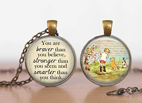 Round Locket Pendant Antiqued Bronze Wish Upon a Star Quote Photo Fairy Tale