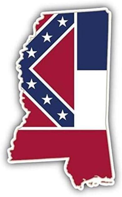 N//I 3  X 5  Estado de Mississippi Mapa de Estado de EE Bandera Bulldogs Inicio Calcoman/ía Vinilo Etiqueta de Coche para Coche Laptop I-Pad Tel/éfono UU