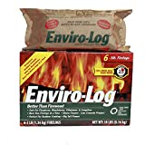 Enviro-Log Earth Friendly Fire Log, Burns Cleaner Than Wood. (1 Box - 3 lb Pack of 6)