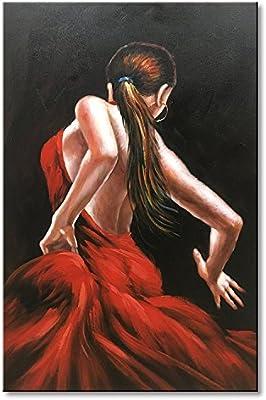 Tres Pared Arts Falda Moderno Arte Abstracto Baile Personas Aceite ...