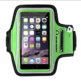 Gear Beast Sport Gym Running Armband for iPhone 6s Plus, 6 Plus, Note 7, 5, 4, S7 Edge, S6 Edge Plus, Motorola Moto X Pure, Droid Maxx 2, Droid Turbo 2, HTC One M9, Key Holder, Reflective Safety Band