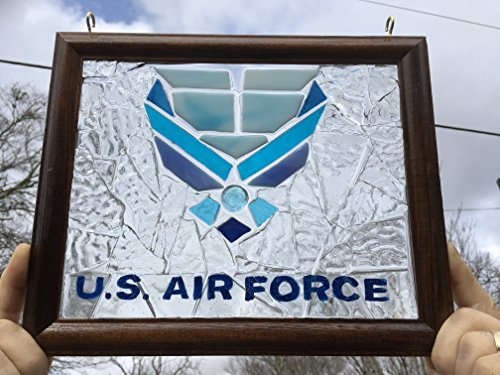 US Air Force Stained Glass window rArt Sun Catcher