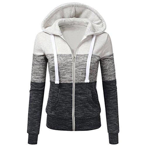 Kimloog Women Long Sleeve Zip Hoodie Activewear Drawstring Sweatshirts Sports Coat Jackets