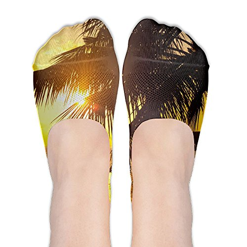 Tahiti Summer Sunset Of Beach Classic Womens Non Slip Boat Ankle Short Low Cut No Show Thin Socks For Yoga Train Hiking Cycling Running Sports Soccer