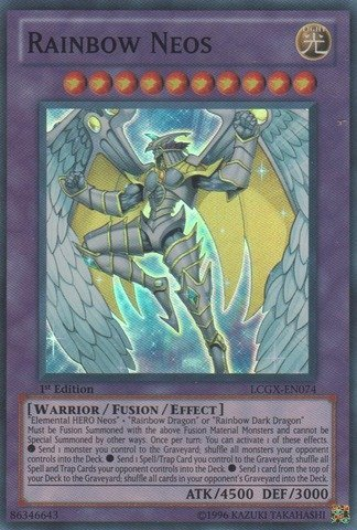 Yu-Gi-Oh! - Rainbow Neos (LCGX-EN074) - Legendary Collection 2 - Unlimited Edition - Super Rare by Yu-Gi-Oh!