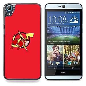 "Qstar Arte & diseño plástico duro Fundas Cover Cubre Hard Case Cover para HTC Desire 826 (Red P0kemon Pika"")"