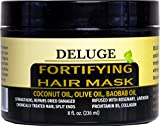 deluge DELUGE - Fortifying Hair Mask with Baobab Oil, Coconut Oil and Olive Oil, Restores, Repairs and Nourishes Dry Damaged Hair- Collagen + ProVitamin B5 -Net Wt. 8 oz
