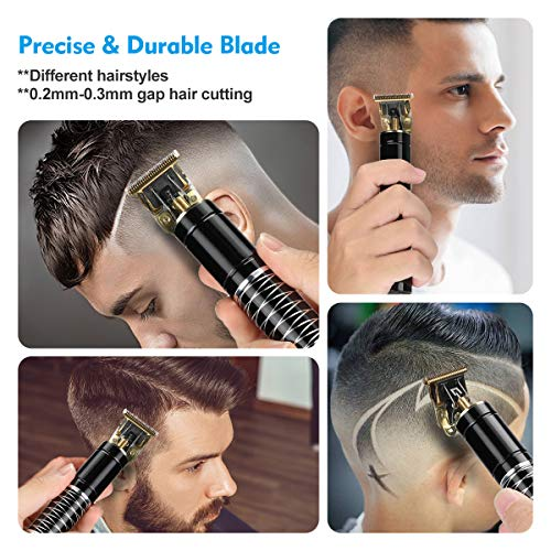 BESTBOMG Hair Clippers Men,Professional Cordless T-Outliner Hair Trimmer,Upgrade Electric Pro Li Outliner,T-Blade Trimmer Hair Clippers for Men Zero Gap Baldhead Beard Shaver Barbershop