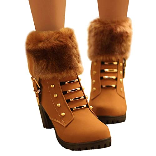 2018 Otoño Invierno Moda Botas Mujer Martin de Plataforma Alto talón Clásico Botines de Sexy Zapatos de tacón Grueso con Cremallera para Mujer Club Botines ...
