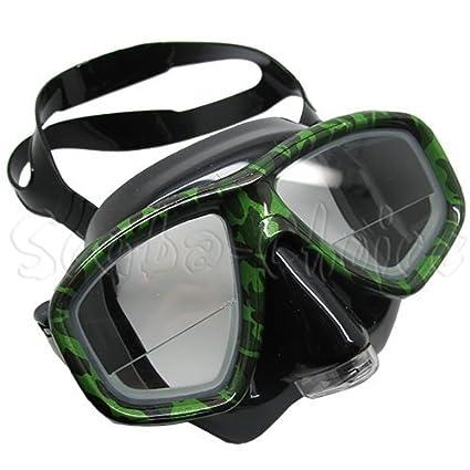36a72c1bc9 Scuba Choice Camouflage Diving Dive Snorkel Farsighted Mask Prescription RX  Optical Corrective Lenses