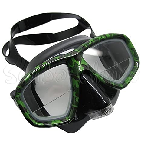 Camouflage Dive Purged Mask NEARSIGHTED Prescription RX Optical Lenses (-5.0) Waterproof Silicone Electric Face Skin Cleaner Double Face Brush Washer Vibratory Scrubber, Electric Face Washer, Silicone Face Cleaner