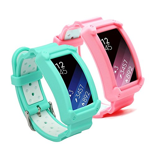 Gear Fit2 Bands,Uwatchband Soft Silicone Replacement Sport Band for Samsung Gear Fit 2 SM-R360/Fit 2 Pro Smart watch by Uwatchband