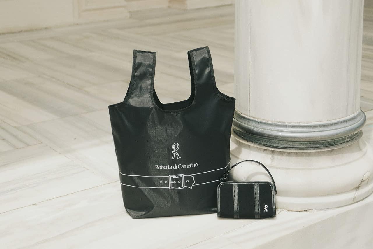 ROBERTA DI CAMERINO SHOPPING BAG & POUCH BOOK BLACK ver. :6/25発売 【ムック本付録】ロベルタ ディ カメリーノ ショッピングバッグ&ミニバッグ型ポーチ(ブラックver.)