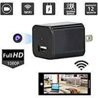 Hidden Spy Camera 1080P HD USB Wall Charger Spy Camera Adapter WiFi Motion Detection 32GB
