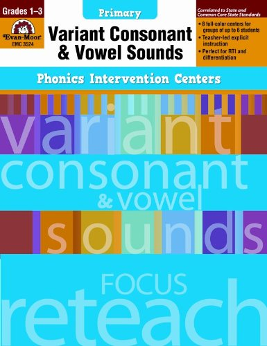 Phonics Intervention Centers: Variant Consonant and Vowel Sounds, Grades 1-3 (Phonics Intervention Centers Primary)]()