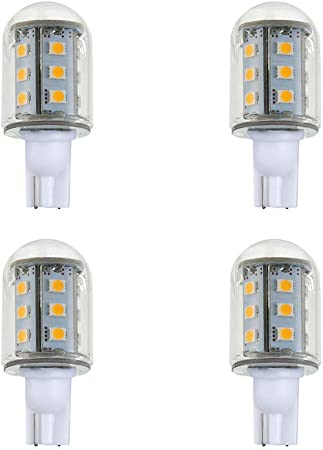 Makergroup T5 T10 Wedge Base LED Light Bulbs 12VAC//DC 2Watt Warm White 2700K-3000K for Outdoor Landscape Lighting Deck Stair Step Path Lights and Automotive RV Travel Tailer Lights 6-Pack