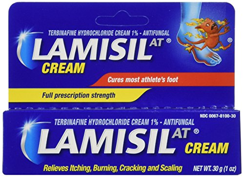 Lamisil Athelete's Foot Antifungal Cream, Full Prescription Strength for Itching, Burning, Cracking, and Scaling, 1 ounce