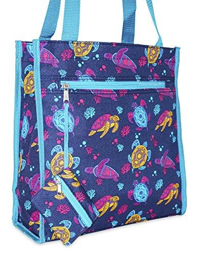 (Ever Moda Sea Turtle Tote Bag)