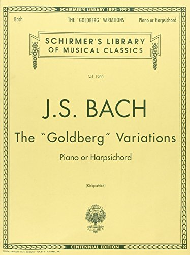 Bach: Goldberg Variations: Schirmer's Library of Musical Classics (Tapa Blanda)