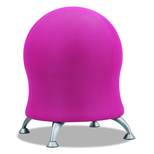 Safco Products Zenergy Ball Chair 4750PL, Pink, Low Profile,...