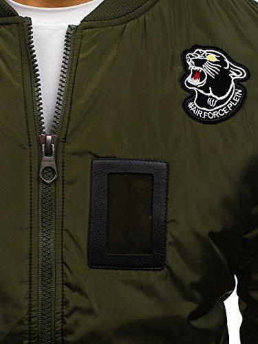 – j906 Casual 4d4 Verde Bolf Uomo Da Cerniera Militare Bomber Giacca Con Zdwq7dO