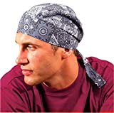 24PCK-Deluxe Tie Hat W/ Elastic - DENIM-One-Size
