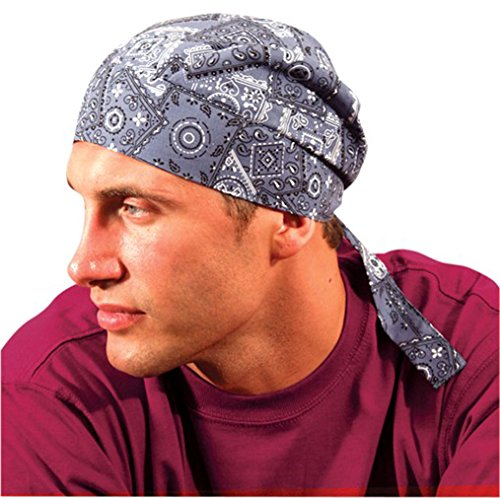 24PCK-Deluxe Tie Hat W/ Elastic - DENIM-One-Size by Occunomix