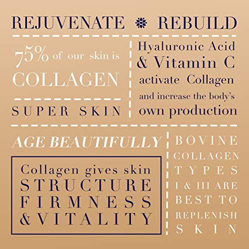 51jKZq1ZYSL - Premium Collagen Peptides, Anti Aging, Anti Wrinkle for Revitalised Skin, Hair and Nails Vitamins, Includes Keratin Complex, Biotin, Hyaluronic Acid, Astaxanthin, and Vitamin C, 60 Tablets