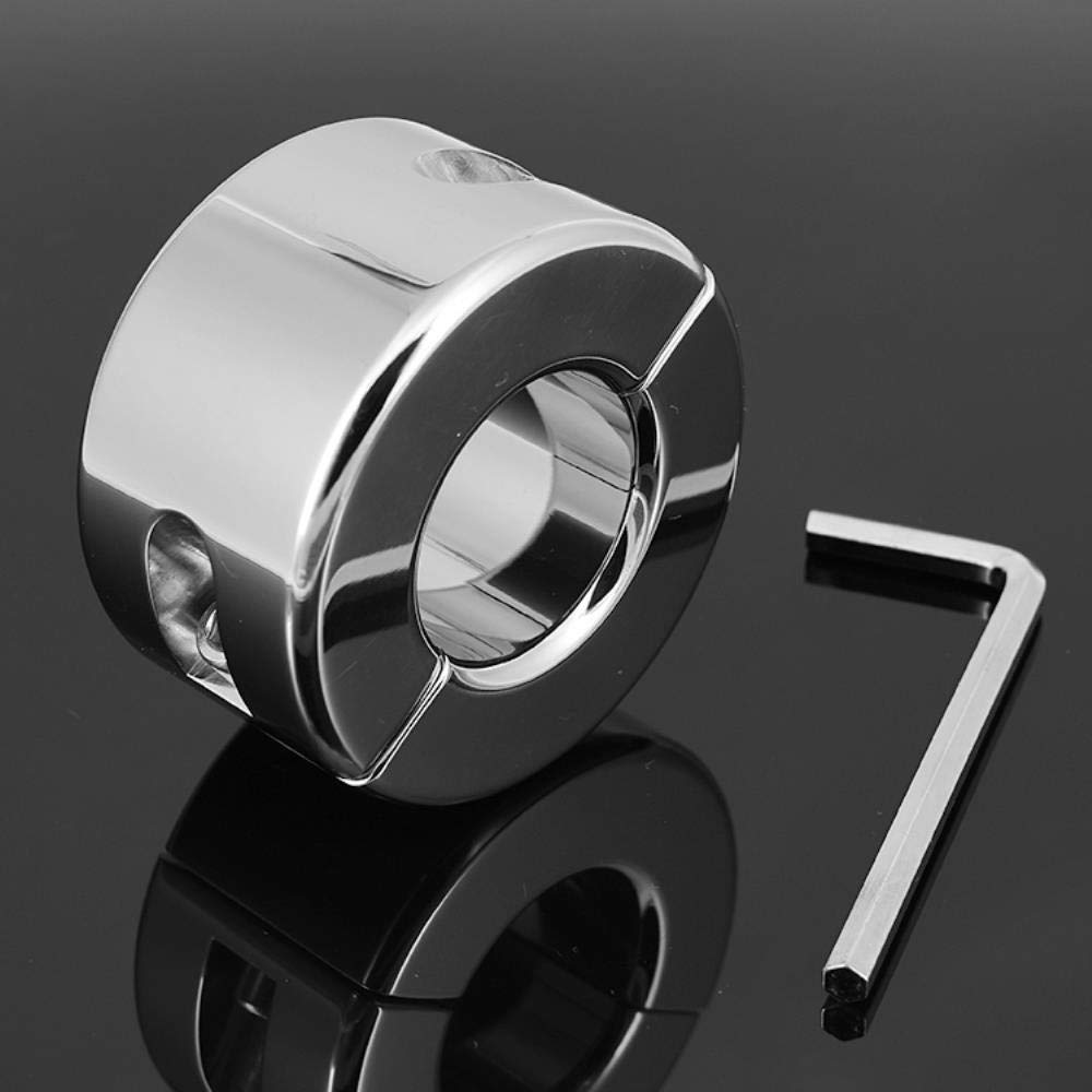 Driscoll 980g Heavy Stainless Steel Scrotum Stretchers Scrotum Ring Metal Locking Pendant Ball Weight for CBT Chrome Finish Male Sex Toy