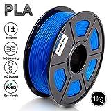 PLA 3D Print Filament,1.75 mm Blue PLA Filament,Dimensional Accuracy +/- 0.02 mm,1KG Spool(2.2lbs) - Enotepad Non-Block Filament(Blue)