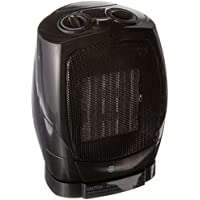 Homegear 1500W Ceramic Heater with Electric Oscillating Fan Tabletop/Floor Heater with Thermostat