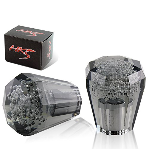 Universal JDM Crystal / Octagonal Style 60mm Transparent Black Bubble shift knob (Shift Style Knob)