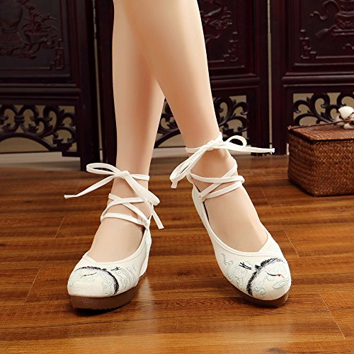 Prom White2 Shoes Sandals AvaCostume Embroidery Wedge Womens Fashion Dress 7xqqXfpPn