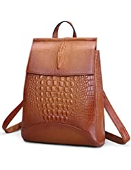 Coolcy New Fashion Casual Women Genuine Leather Backpack Shoulder Bag