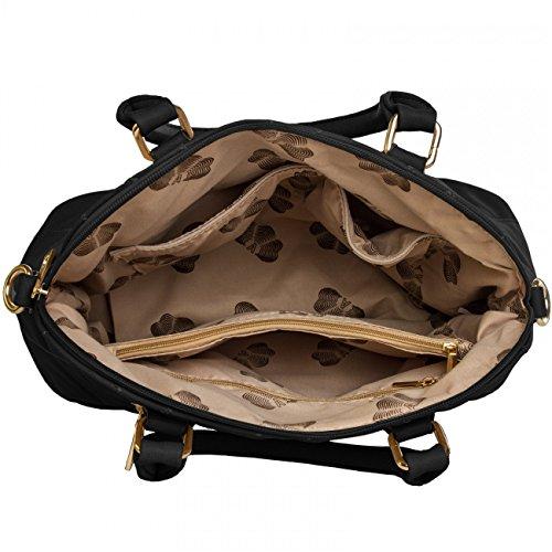 CASPAR Fashion - Bolso de asas para mujer - negro