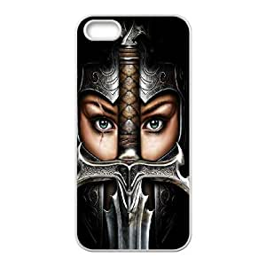 Valkyrie Girl iPhone 5 5s Cell Phone Case White Phone cover V92792670