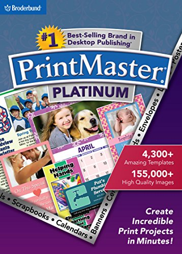 PrintMaster v7 Platinum for PC: Design Software For Making Personalized Print Projects (Cards, Flyers, Posters, Scrapbooks) [Download] by Encore