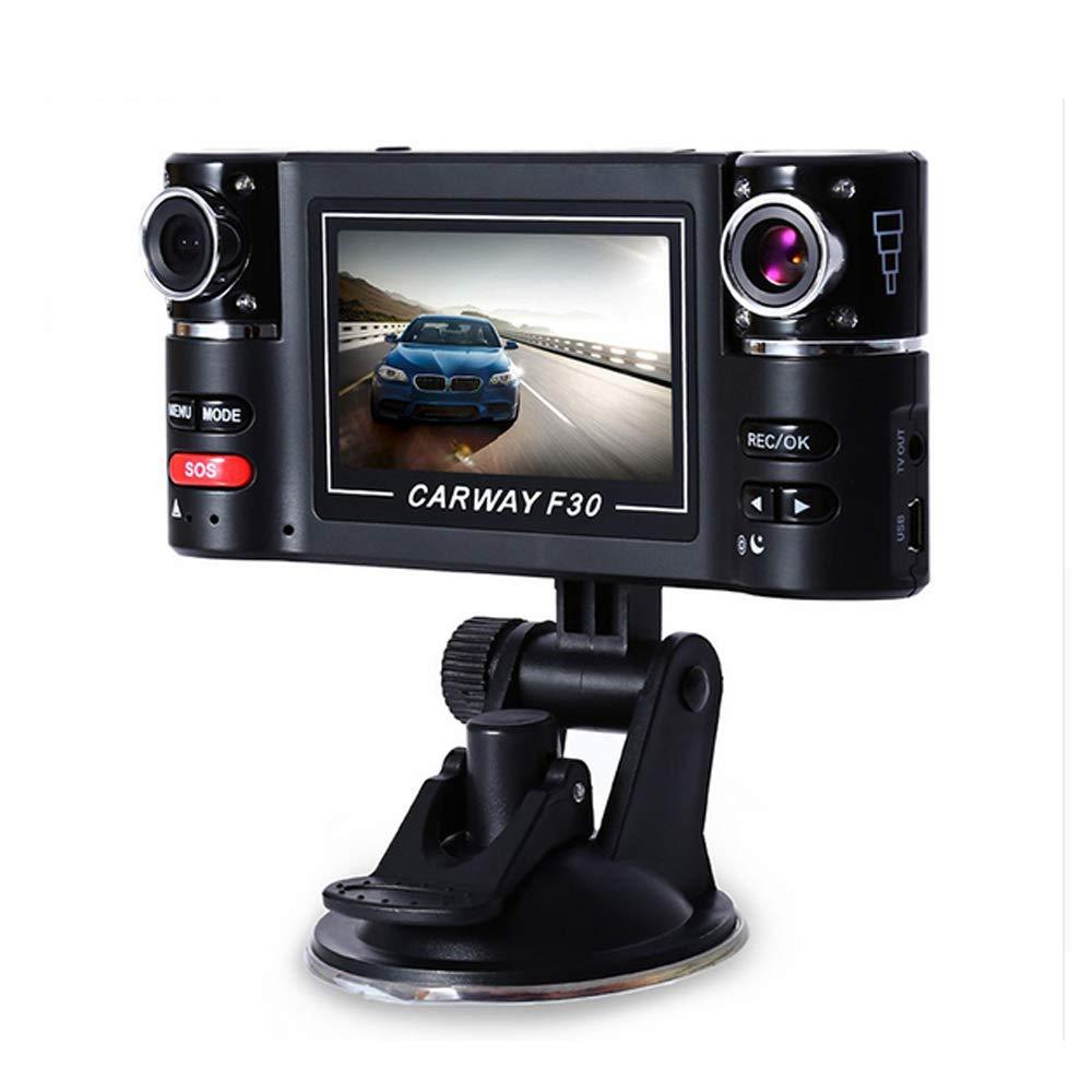 VIGORWORK F30 2.7' HD Dual Lens Car DVR Car Camera Dual cam Night Vision Vehicle Black Box Driving Camcorder Video Recorder for Parking