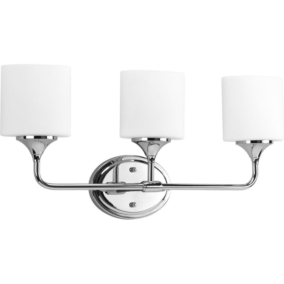 Progress Lighting Lynzie 3-Light Chrome Vanity Fixture - - Amazon.com