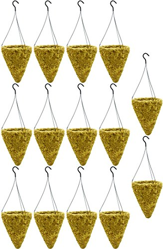 """14"""" Cone Sphagnum Moss Basket with Wire Hanger (14 Sets P..."""