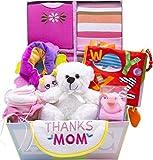 Sweet New Baby Gift Basket | Sweet Baby Boy & Sweet Baby Girl (Pink)