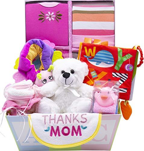 Sweet New Baby Gift Basket - Baby Boy & Baby Girl (Pink) ()