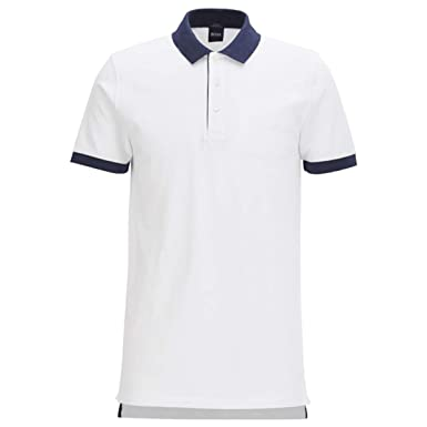 BOSS Hugo Polo - para Hombre Blanco Blanco Large: Amazon.es: Ropa ...
