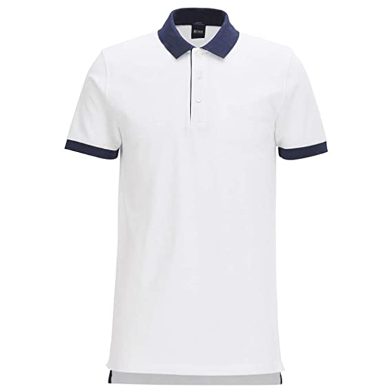 2aebb6e7ef39 Hugo Boss Black Phillipson Slim Fit Pima Cotton White Polo: Amazon.co.uk:  Clothing