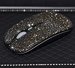 Wireless Mouse Covered with Rhinestone Crystal with USB Receiver