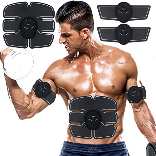 Abs Stimulator Muscle Trainer Ultimate Abs Stimulator Ab Stimulator for Men Women Abdominal Work Out Ads Power Fitness Abs Muscle Training Gear ABS Workout Equipment Portable Abs Belt (black)
