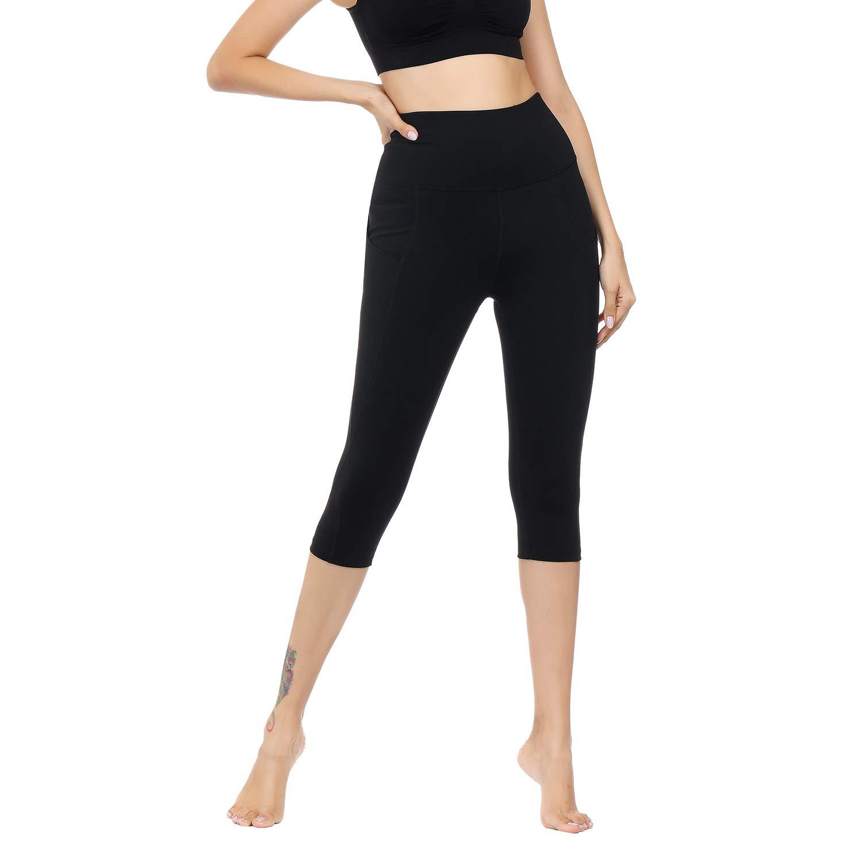 WateLves Legging pour Femme Pantalon de Yoga Gym 3 4 Taille Haute Capri Course  à Pied ... a9319e5a8a9