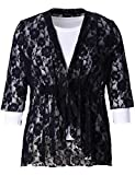Product review for Chicwe Women's Stretch Plus Size Floral Lace Bohemian Cardigan Jacket 1X-4X